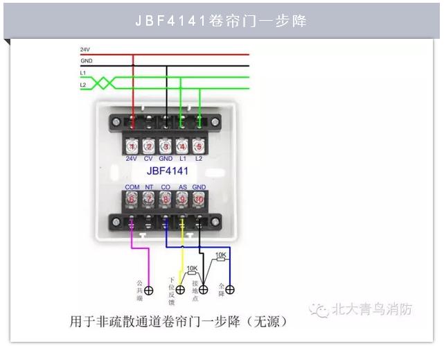 北大青鸟jbf4141消防现场模块类产品接线示意图